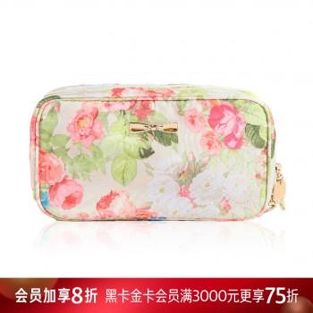 花卉系列双层长形化妆包
