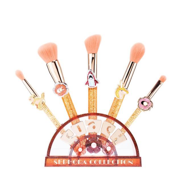 丝芙兰蔻驰联名款茶玫瑰化妆刷套装